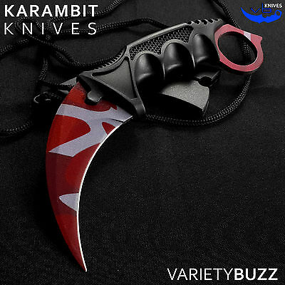 CSGO SLAUGHTER FIXED BLADE TACTICAL KARAMBIT Survival Hunting Combat Neck Knife