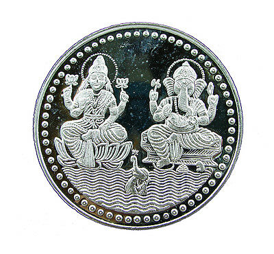 5 Grams Pure 999 Hallmarked Ganesh Lakshmi Ji Silver Coin for Investment / Gift