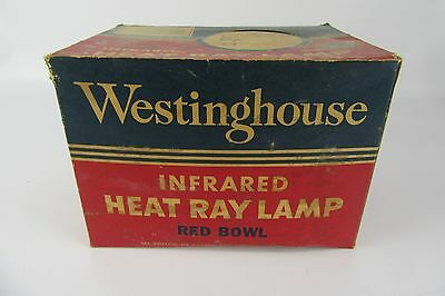 Vintage Westinghouse Infrared Heat Ray Lamp w/Box