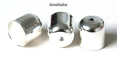 NEW! 10-50 LARGE BELL SILVER PLATED END BEAD CAPS/TIP 12mm JEWELLERY FINDINGS UK