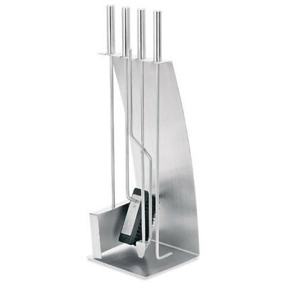 Blomus CHIMO Fireplace Bow Front 5 pc Tools Set Stainless Steel Home Decor Gift