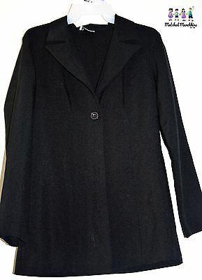 Women's Black Long Career Blazer B'Time Maternity Small EUC Polyester