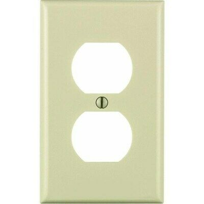 Nylon Double Outlet Wall Plate,No 024-80703-ONT,  Leviton Mfg Co, 3PK