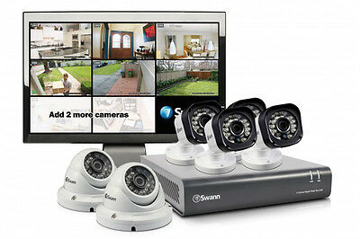 Swann 8 Channel 720p 1TB DVR with 4 x PRO-T835, 2 x PRO-T836 Cameras & Monitor