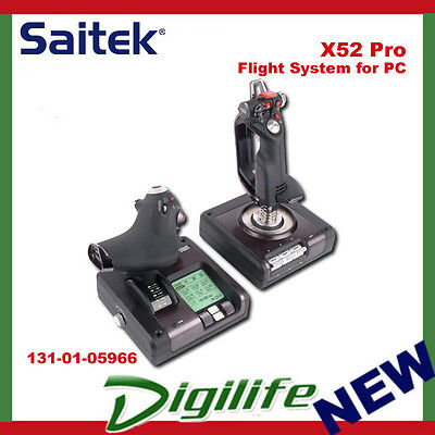 Logitech G X52 PRO Flight Control System Joystick for PC Gaming Saitek