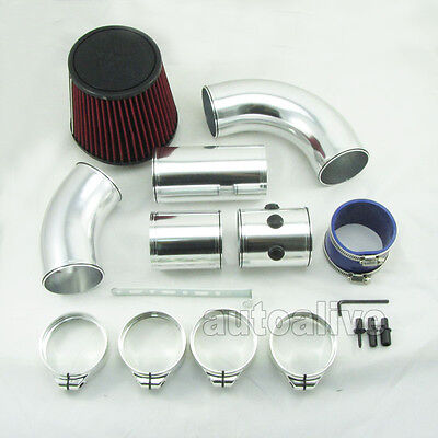 3 inch Multiple Combined Cold Air Intake System Pipe Kit + Filter Universal
