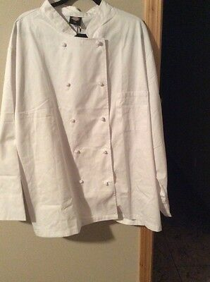 Size 4Xl Chef's Coat, Dickies Dc 121 8 Buttons