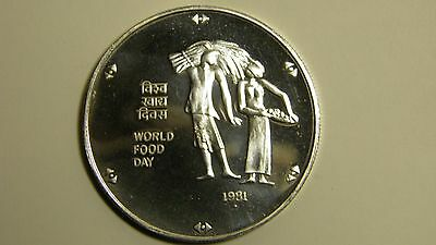 1981 India 100 Rupees Silver Proof Coin