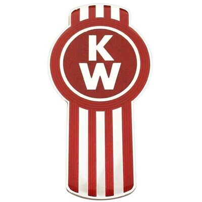Genuine Kenworth Emblem-Enamel Kw Bug Silver / Red (L53-1002-10)