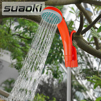Portable Handheld Shower 12V Car Charger+Showerhead Outdoor Camping Cleaning