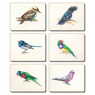 Away with The Birds - Set of 6 Placemats and Coasters - Cinnamon