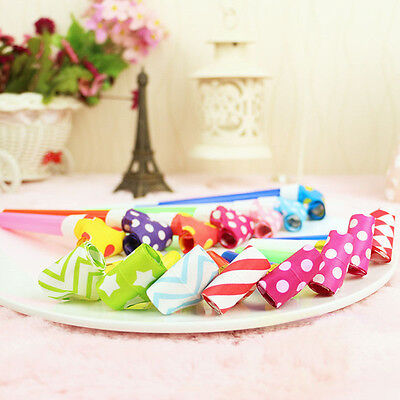 25Pcs Funny Kids Children Birthday Party Accessory Dots Whistle Blowing Dragon