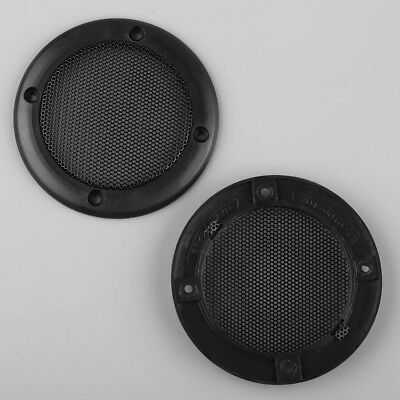 """2PCS 3.5"""" inch Speaker Decorative Circle With Protective Black Iron Grille Mesh"""