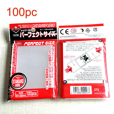 KMC Card Barrier Perfect Size Card Sleeves (100 Piece) Clear, 64 x 89 mm Japan