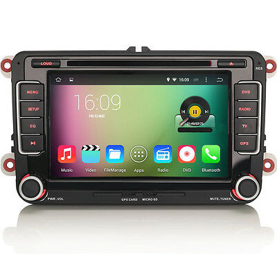 VW Scirocco Polo Android 5.1 QuadCore Radio Stereo GPS SatNav RNS510-Style DAB