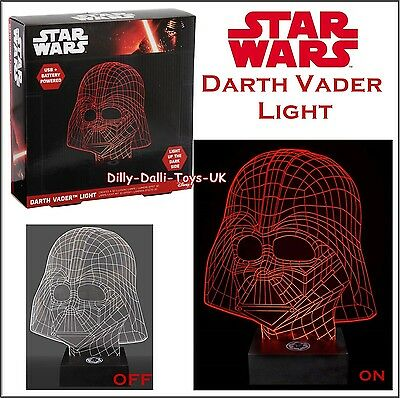 NEW Star Wars DARTH VADER LIGHT USB or Battery Powered Lamp Red Create 3D Effect