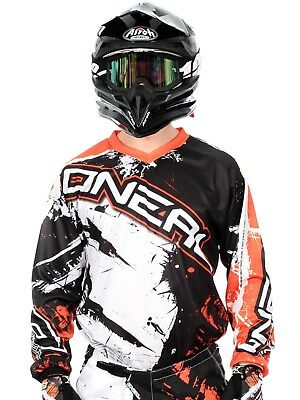 ONeal MX Trikot 2017 Element Shocker Schwarz-orange