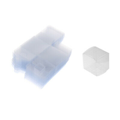 50pcs Wedding Party Plastic Clear Gifts Box Candy Chocolate Packaging Box