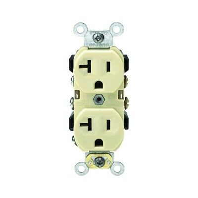 Commercial Grade Grounded Duplex Outlet,No BR20-00I,  Leviton Mfg Co, 3PK