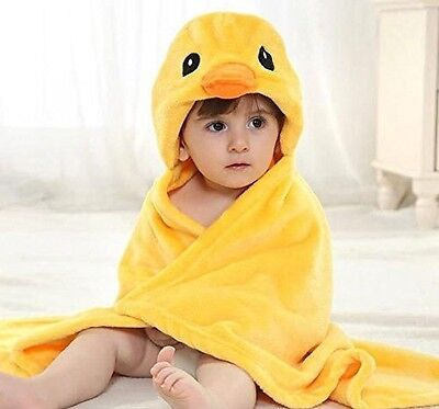 AZBABY Duckie Hooded Bath Towel Wrap for Toddlers and Kids