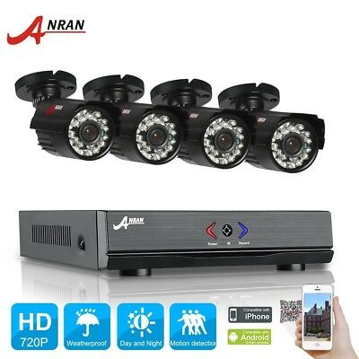 HD 4CH 1080N DVR 1800TVL 720P Day Night Outdoor CCTV Cameras Security System Kit