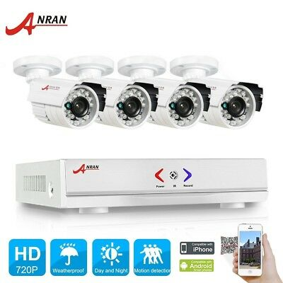 ANRAN 1080N HD 4CH AHD DVR 1800TVL 720P Outdoor IP66 Home Security Camera System