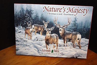 "LEANIN TREE ""Nature's Majesty""  Christmas Cards, 20 Cards/Envelope"