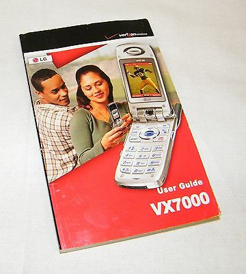 LG Verizon Wireless English & Spanish User Guide Only For LG VX7000 Cell Phone