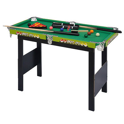 Green Snooker/Pool Game Table Sets With Snooker Balls And Other Accessories
