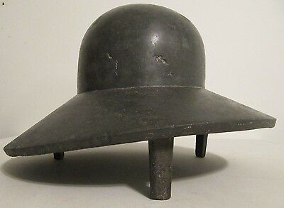 Rare Industrial Cast Metal French Ladies Hat Millinery Form