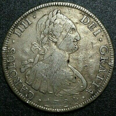 1794 P.R.☆ BOLIVIA☆8 Reales Spanish Colonial  Silver Coin Charles IIII☆ Potosi