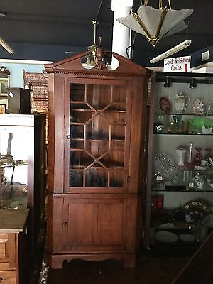 1800 To 1900's Antique Southern Country Cherry & Pine Corner Cabinet
