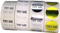 "3/4"" Try Me Labels Bulk Pack"