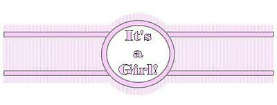Its a Girl Cigar Candy Favor Wrap Label New Born Baby Birth Shower Set of 30