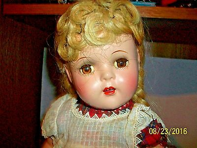 Vintage 1937-43 Madame Alexander 15.5 inch McGuffey Ana Doll in Tagged Outfit