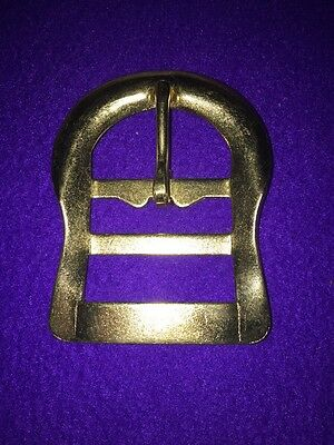Stamped Steel Brass Plated Double Bar Buckle 1-1/2