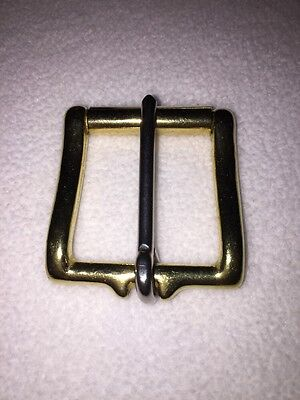 "1-3/4"" Solid Brass Belt Buckle With Roller"