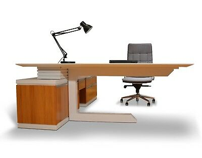 Modern Executive Office Computer Desk w/ Drawers Table Furniture M245