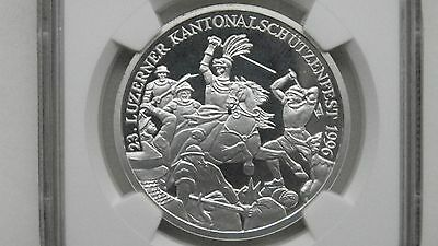 1996 Switzerland 50 Francs Shooting Thaler Silver Proof coin
