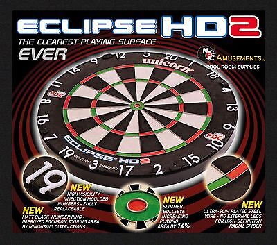 Unicorn HD 2 Competition Dart Board NEW 2016 Official Dartboard of the PDC