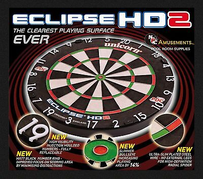 Unicorn HD2 HD 2 Competition Dart Board NEW 2018 Official Dartboard of the PDC