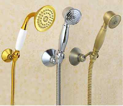 Antique Brass Wall mounted hand shower set with bracket&1.5m flexible hose