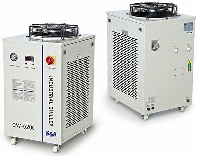 Industrial Refrigeration Water Chiller Cool Dual 200W CO2 Laser Tubes CW-6200AI