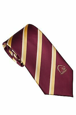 Brisbane Broncos NRL Suit Tie Fathers Day Christmas Birthday Gift