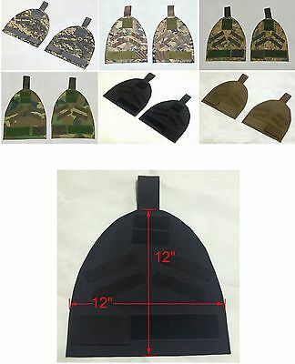 New Airsoft Molle Shoulder/G/Lower Back Protector Pads With Hook&Loop Opening