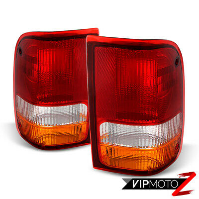 1993-1997 Ford Ranger Factory Style Red Amber [LEFT+RIGHT] Rear Tail Lights Lamp