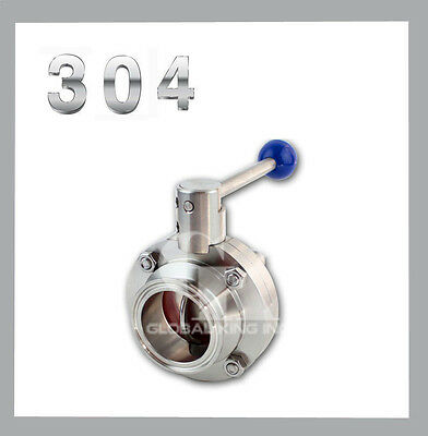 """1.5"""" Sanitary Stainless Steel 304 Butterfly Valve Tri-Clamp Silicone Sealing"""