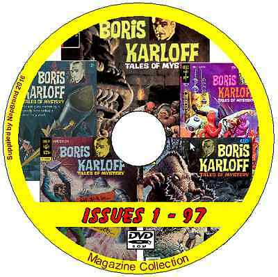 BORIS KARLOFF TALES OF MYSTERY COMICS 97 issues DVD WITH COMIC READER