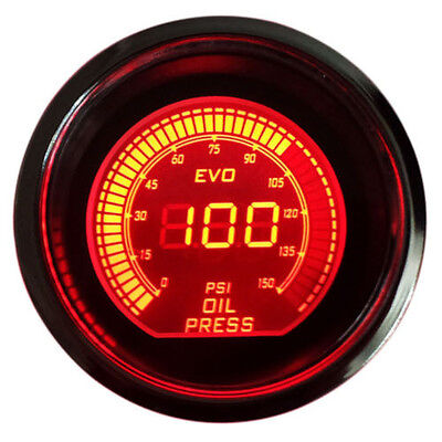 "Universal 2"" 52mm Blue /Red Oil Pressure Car Digital LED Light Gauge Meter AU"
