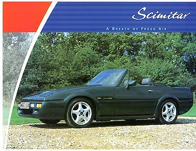 Reliant Scimitar Sabre 1994-96 UK Market Specification Leaflet Brochure 1.4 2.0T